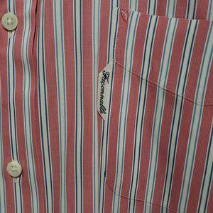 FACONNABLE Men's Striped Dress Shirt